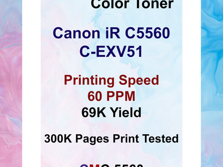 iR C5560 CEXV51 (60 PPM) Canon, CMC 5560 Toner for Remanufacturing