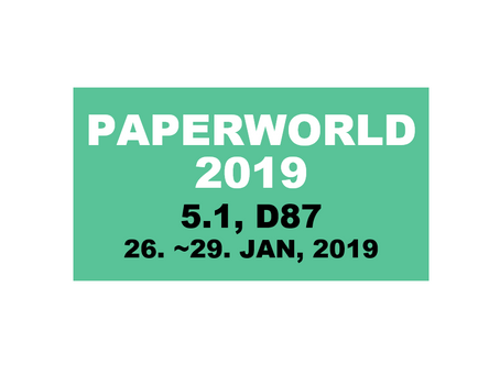 CM in Paperworld 2019 - Hall 5.1, D87