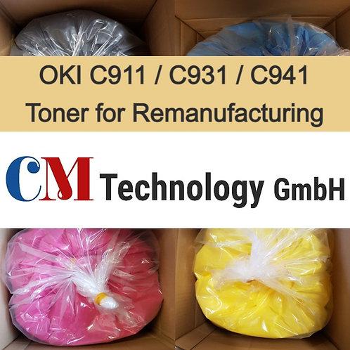 1 Kg, C911 / C931 / C941 OKI , Toner Powder for Remanufacturing, CMO 941