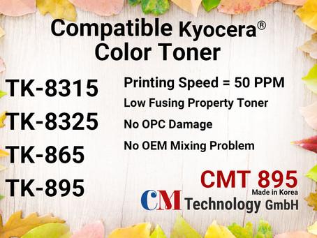 TK-8315, TK-8325, TK-865, TK-895 Kyocera, Toner for Remanufacturing - CMT 895