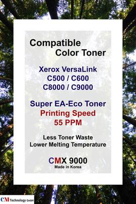 CMX 9000, Xerox Compatible Toner Powder for C500 / C600, C8000 / C9000