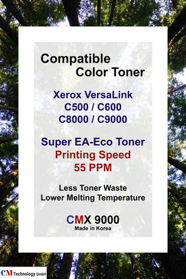CMX 9000, Xerox Compatible Toner Powder for C500 / C600, C8000 / C9000 - Toner Powder for Remanufacturing
