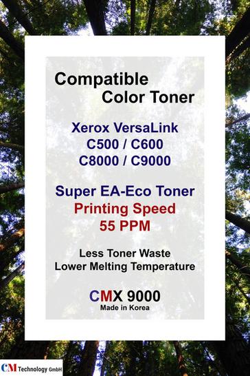 CMX 9000, Xerox-kompatibles Tonerpulver für C500 / C600, C8000 / C9000 - Tonerpulver für die Wiederaufarbeitung