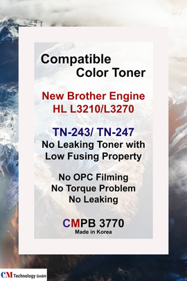 CMPB 3770, Compatible Brother TN 243, 247 - Toner Powder for Remanufacturing