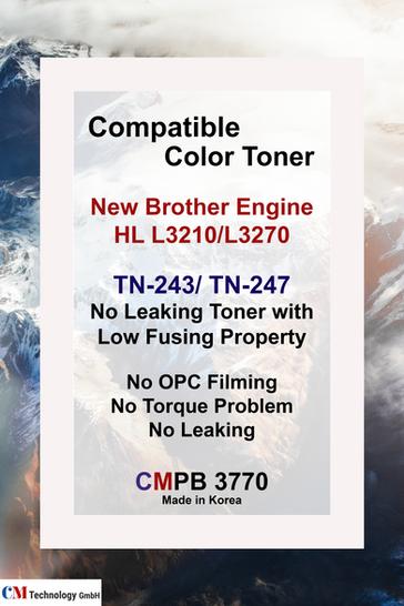 CMPB 3770, kompatibles Brother TN 243, 247 - Tonerpulver für die Wiederaufarbeitung