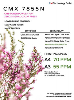 CMX 7855N Compatible Xerox Digital Color Press - Toner Powder for Remanufacturing