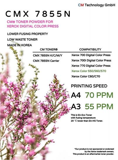 CMX 7855N Kompatible digitale Xerox-Farbpresse - Tonerpulver für die Wiederaufarbeitung