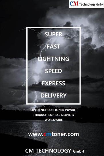 Superschnelle Express-Lieferung mit Blitzgeschwindigkeit