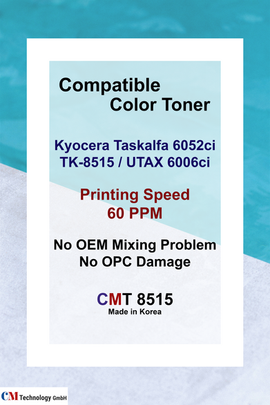 CMT 8515, Kyocera Compatible for TK-8515 - Toner Powder for Remanufacturing