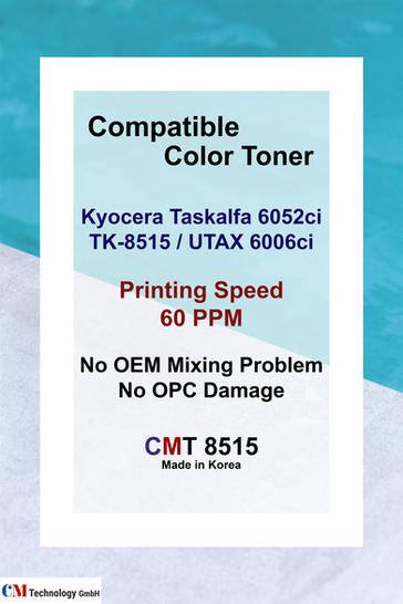 CMT 8515, Kyocera Kompatibel mit TK-8515 - Tonerpulver für die Wiederaufarbeitung
