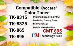 CMT 895, Compatible Toner Powder for TK-8315/8325/865/895 - Toner Powder for Remanufacturing