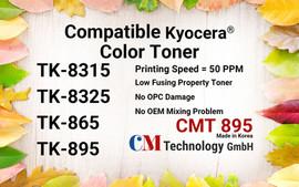 CMT 895, Compatible Toner Powder for TK-8315/8325/865/895