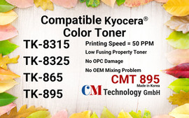 CMT 895, Compatible Toner Powder for TK-8315/8325/865/895 - Toner Powder for Remanufacturing