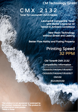 CMX 2132, Compatible Lexmark CS/CX Series - Toner Powder for Remanufacturing