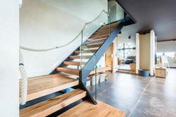 Escalier métal marches bois
