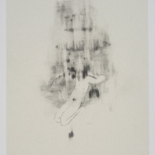 'Do Not Sink In Your Weeping', 2020, graphite on paper. Photograph by Simon Mills.