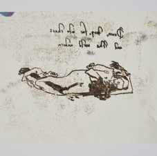 'As The Mole Lay Dreaming', 2019, monoprint on paper. Photograph by Simon Mills.