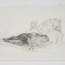 'Get Up And Walk (The Impossible Blessing)', 2019, graphite on paper. Photograph by Simon