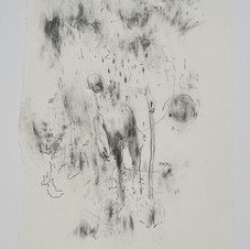 'Pilgrim, Stay', 2020, graphite on paper. Photograph by Simon Mills.