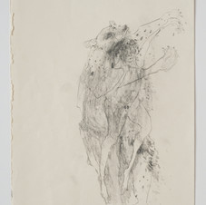 'Are You a Heaven Bear? (In The Belly)', 2019, graphite on paper. Photograph by Simon Mills.