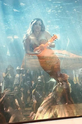 real life mermaid at a festival