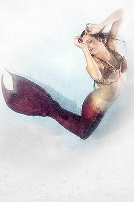 real life mermaid at a festival