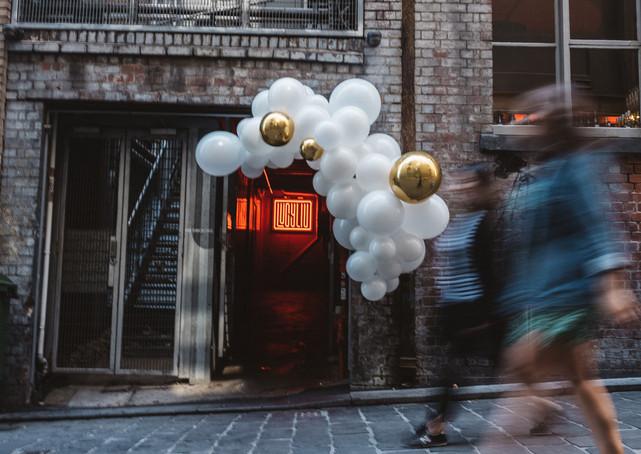 Balloon garland entrance