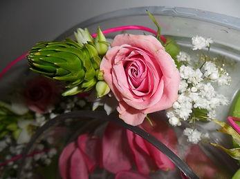 centre de table réalisé par Fleurs d'Anis