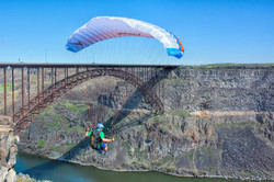 Speed flying over Snake River canyon