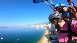 Tandem BASE jumping in Acapulco