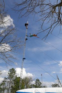 Stunt man training