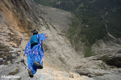 Wingsuit BASE jumping over the Italian Alps