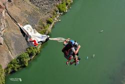 Open parachutes create smiles
