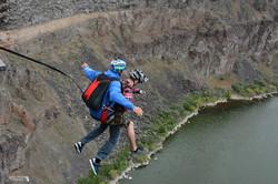 Base jumping makes people scream