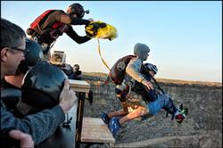 Quadriplegic man does a BASE jump