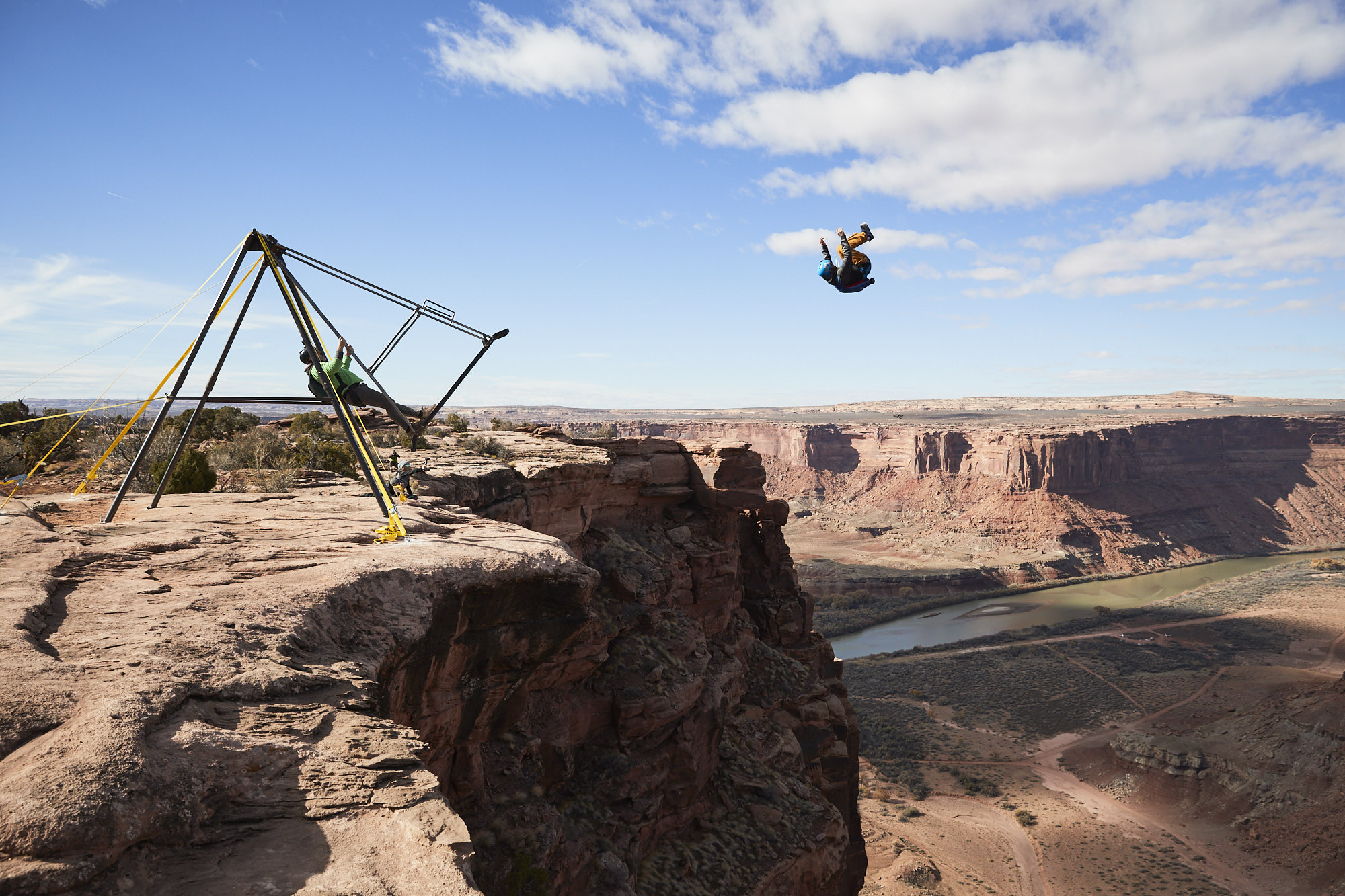 Russian Swing BASE jump in Moab, UT