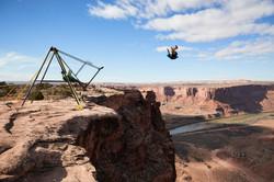 Russian Swing BASE jump in Moab, UT