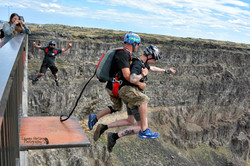 People jumping for Tandem BASE