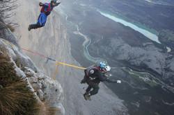 BASE jumping in Italian Alps
