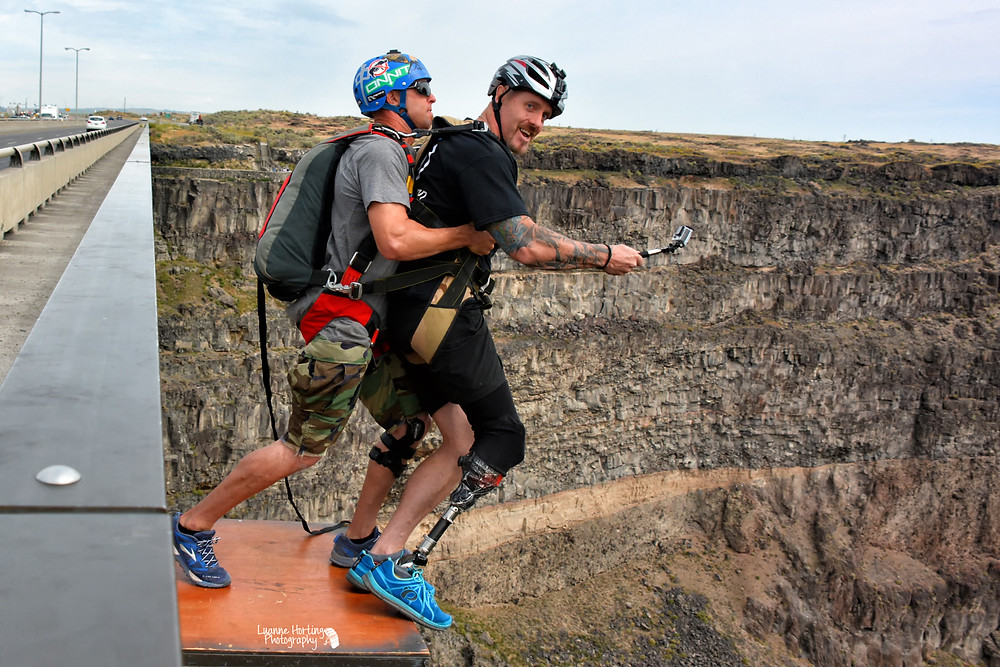 BASE jumping with disabilities