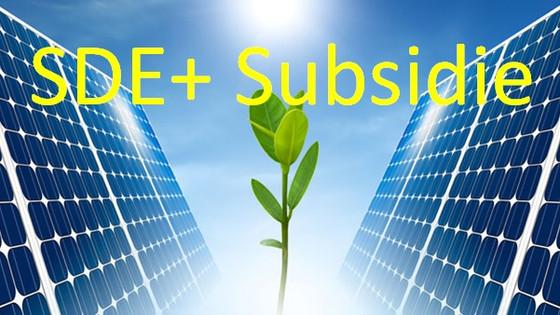 Aanmelden subsidie zonnepanelen tot 09/03/2018