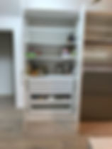 shaker style cabinetry; functional storage solutions; pantry drawers fo maximum storage; quantum kitchens & cabinetry