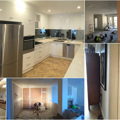 Kitchen redesign - before, during / after