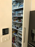 built in pantry; concealed pantry drawers; quantum kitchens & cabinetry