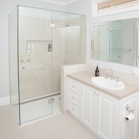 bathroom redesign, functional and minimal with original freestanding bath