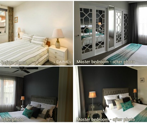 Bedroom redesign - before, during and after