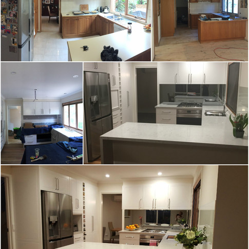 Kitchen redesign - before / during and after