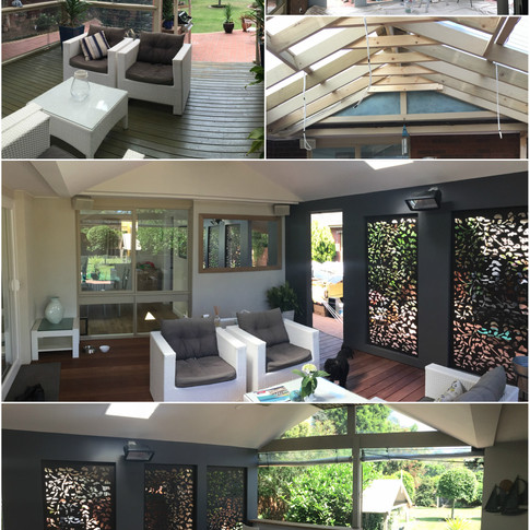 outdoor entertaining - before / during and after