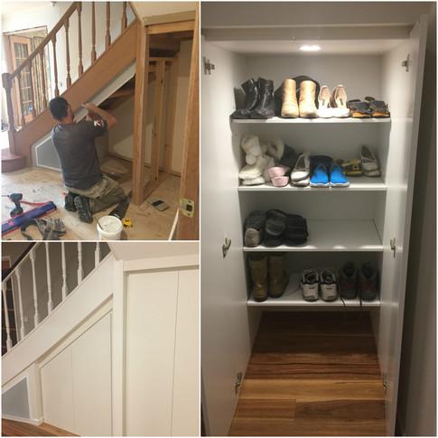 Under stairwell storage solutions