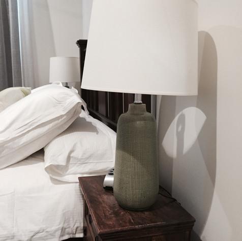 Ceramic bedside lamp